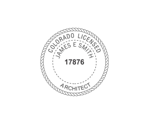 Colorado Licensed Architect Seal