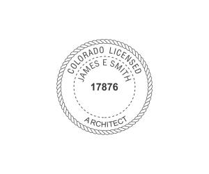 Colorado Licensed Architect Seal