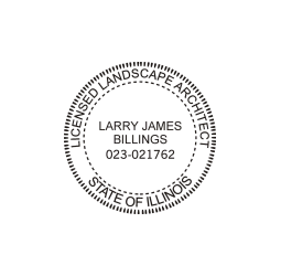 Illinois Licensed Landscape Architect Seal