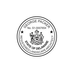 Delaware Landscape Architect Seal
