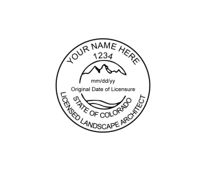 Colorado Licensed Landscape Architect Seal