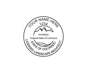 Colorado Licensed Landscape Architect Seal