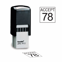 Square Inspection Stamps - Trodat