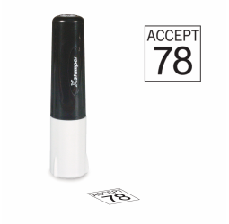 Square Inspection Stamps -  X-Stamper Non Porous