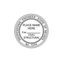 Nevada Professional Engineer (Civil/Structural) Seal