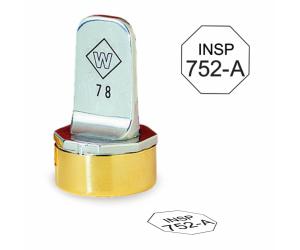 Octagon Inspection Stamps - Neoprene