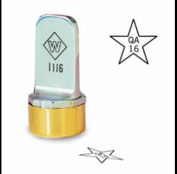 Star Metal Inspection Stamp- Neoprene
