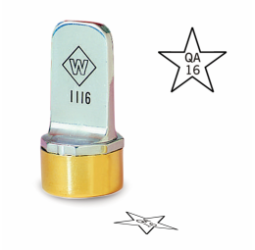 Star Metal Inspection Stamp- Neoprene
