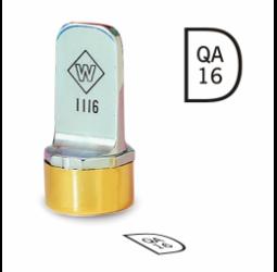 D Metal Inspection Stamp- Neoprene