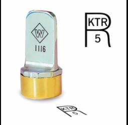R Metal Inspection Stamp- Neoprene