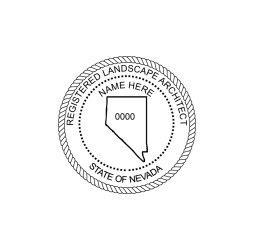 Nevada Registered Landscape Architect Seal