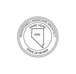 Nevada Registered Landscape Architect Seal