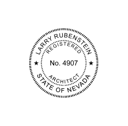 Nevada Registered Architect Seal