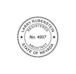 Nevada Registered Architect Seal