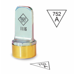 Triangle Inspection Stamps- Neoprene