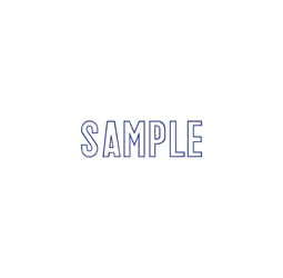 "SAMPLE Stock Stamp  One-color Stock Stamp X-stamper Stamp Size 1/2"" X 1 5/8"". High quality  and easy Re-inking with X-Stamper Ink."