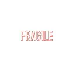 "FRAGILE Stock Stamp  One-color Stock Stamp X-stamper Stamp Size 1/2"" X 1 5/8"". High quality  and easy Re-inking with X-Stamper Ink."