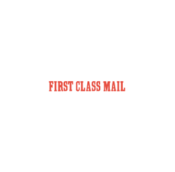 "FIRST CLASS MAIL Stock Stamp  One-color Stock Stamp X-stamper Stamp Size 1/2"" X 1 5/8"". High quality  and easy Re-inking with X-Stamper Ink."