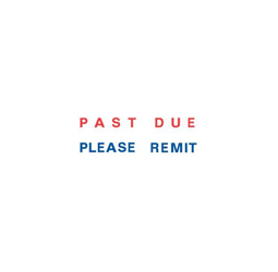 "PAST DUE PLEASE REMIT Two Colored  Stock Stamp  Two-color Stock Stamp X-stamper Stamp Size ½"" x 1-5/8"". High quality  and easy Re-inking with X-Stamper Ink."