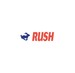 "RUSH Two Colored  Stock Stamp  Two-color Stock Stamp X-stamper Stamp Size ½"" x 1-5/8"". High quality  and easy Re-inking with X-Stamper Ink."