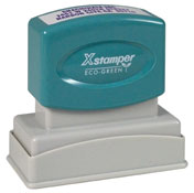 Xstamper Pre-Inked Stamp 11/16 x 1-15/16 in, N11 Xstamper pre-inked stamps are designed to last for years with a laser engraved die for durability.