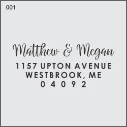 Modern Monogram Custom Return Address Stamp