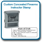 Certified Concealed Firearms Instructor Seal Stamp. This high quality TrodatSelf inking stamp meets Utah BCI laws and requirements. Trodat Self inking.
