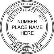 Arizona Registered Architect Seal