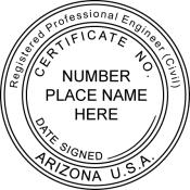 Arizona Registered Professional Engineer Seal