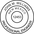 New Mexico Professional Engineer Seal