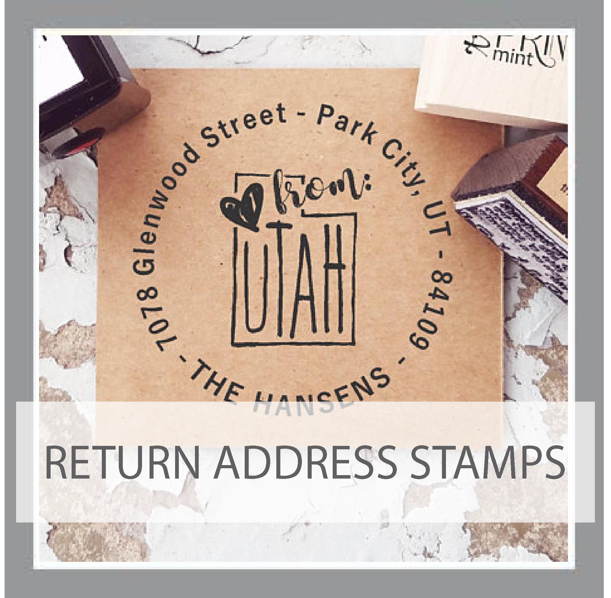 Return Address Stamps