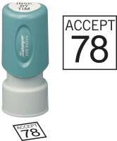 Square Inspection Stamps- X-Stamper