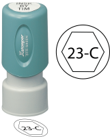 Circle Hexagon Inspection Stamps- X-Stamper