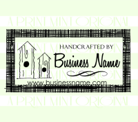 Handcrafted Business Card Stamp