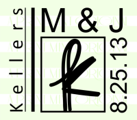 Custom Wedding Initial and Date Monogram Stamp
