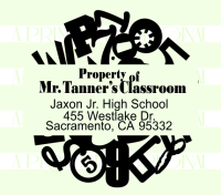 Teacher Property of  Jumbled Numbers Stamp
