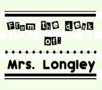 From The Desk of School Teacher Name Stamp