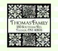 Custom Return Address Self-inking Stamp with Block Print