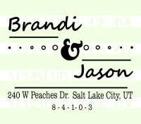 Custom Stylish Return Address Stamp