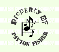 Musical Notes Property- Kids Fun Music Personal Stamp