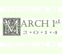 Initial Wedding Date Stamp Ornate Square- Custom Wedding Date Stamp