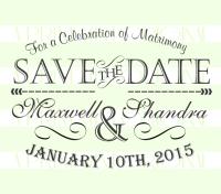Wedding Invitation Stamp- SAVE-THE-DATE Wedding Stamp