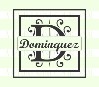 Custom Wedding Favor Last Name Monogram Self-inking or Rubber Stamp