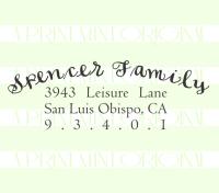 Custom Return Address Self inking or Rubber Stamp- Calligraphy Address Stamp