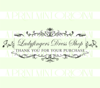 Custom Elegant Business Card Thank You for Your Purchase Stamp