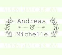 Custom Laurel Wreath Wedding Stamp