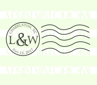 Personalized Rustic Cancellation Stamp