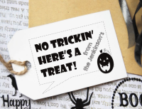 Custom Halloween Gift Tag Stamp