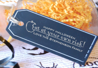 Custom Halloween Gift Tag Stamp- Halloween Treat Label Stamp