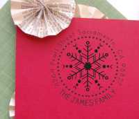 Christmas Return Address Stamp- Custom Snowflake Stamp